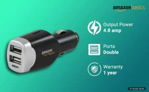 AmazonBasics 4.0 Amp Dual USB Car Charger