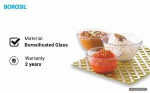 Borosil Glass Mixing Bowl Set
