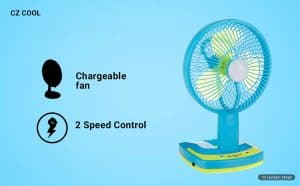 CZ Cool Zone Rechargeable Table Fan