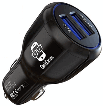 GeekCases GC-CC-02-BLACK Dual USB Car Charger