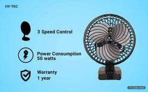 H Hy-Tec 65-watts Table Fan