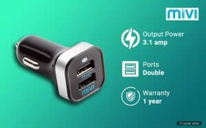 Mivi CC231 3.1A Dual Port Smart Wall Charge Adapter