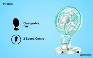 Piesome  Rechargeable Table Fan