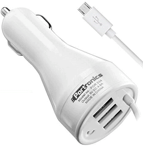 Portronics POR 334 3 USB Port Car Charger