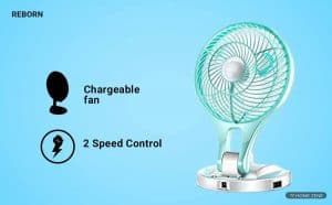 REBORN Rechargeable Table Fan