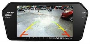 Samrah 7 – inch LCD Full HD Wide Screen Bluetooth Monitor with LED Reverse Camera