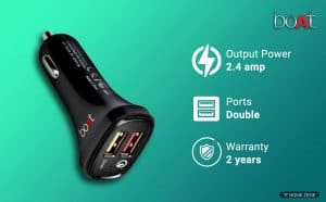 boAt Dual Port Rapid Car Charger