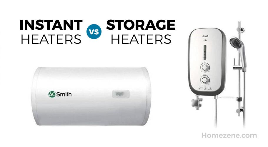 Instant heater vs storage heaters