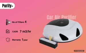 Purify+ Car Air Purifier with HEPA Filter