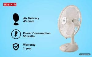 Usha Maxx 55-watts Air Table Fan