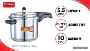 Prestige Deluxe stainless Pressure Cooker