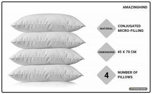 AmazingHind 45cm x 70 cm Bed Pillows