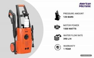American Micronic 1500-Watts Electric High Pressure Washer