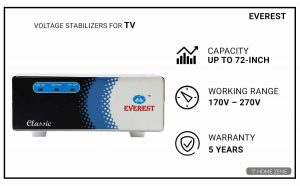 Everest ECC 100 Voltage Stabilizer for TV
