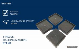 Glister 4-Pieces Washing Machine Stand