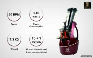 Hestia Cold Press Juicer