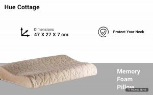 The Hue Cottage (47 x 27 cm) Memory Foam Pillow