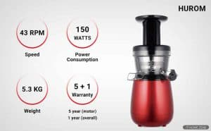 Hurom HP-RBD12 Cold Press Juicer