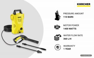 Karcher K2 Compact 1400-Watts Electric High Pressure Washer