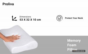 Proliva (53 x 32 cm) Memory Foam Pillow