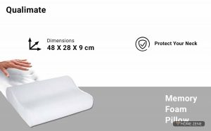 Qualimate (48.26 x 27.94 cm) Memory Foam Pillow