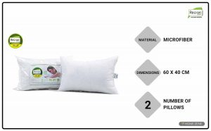 Recron Certified 41 x 61 cm Bed Pillows