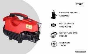 STARQ W3 1800-Watts Electric High Pressure Washer