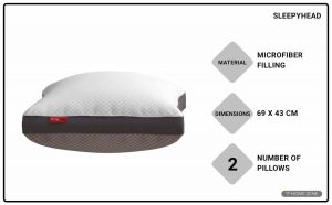 Sleepyhead 68.58 x 43.18 cm Bed Pillow