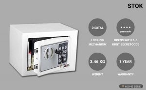 Stok St- Es1723 Small Electronic Safe