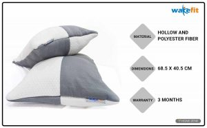 Wakefit 68.5 x 40.5 cm Bed Pillows