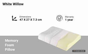 The White Willow (46.99 x 26.67)  Memory Foam Pillows
