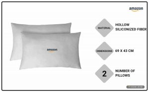 Amazon Brand-Solimo 69 x 43 cm Bed Pillow