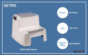 GETKO WITH DEVICE Toilet Step Stool