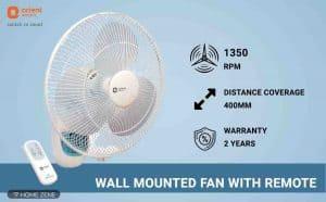 Orient Wall Mounted Fan