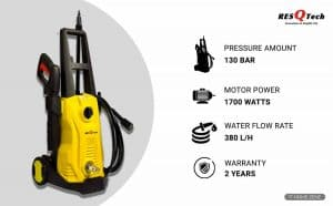 ResQTech 1700-Watts Electric High Pressure Washer