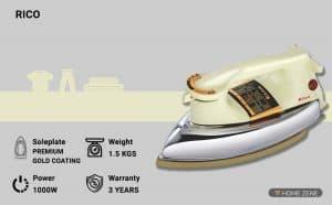 Rico 1000-Watts Dry Iron