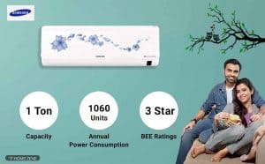 Samsung AR12NV3HLTR 1-Ton 3-Star Inverter Split AC