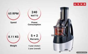 Usha 362F Cold Press Juicer