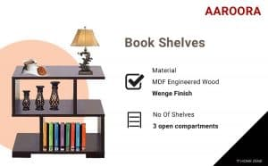 AAROORA BedSide Book Shelves