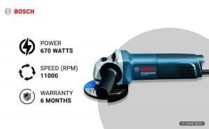 Bosch GWS 600 670-Watts Professional Angle Grinder