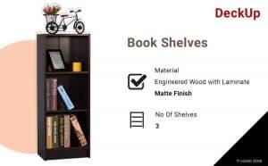 DeckUp 3-Shelf Bookshelves