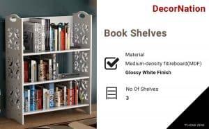 DecorNation 3Tier Nora Bookshelves