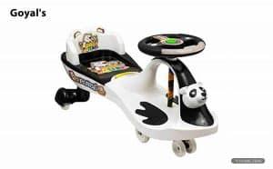 Goyal's Free Wheel Musical Panda Magic Ride on Car for Kids