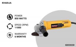 KHADIJA AG-801 850-Watts Angle Grinder