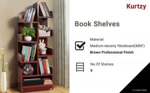 Kurtzy Wall Mounted Heavy Duty Invisible Book Shelves