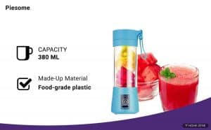 Piesome 2000mAh rechargeable battery Blender