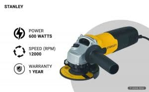 Stanley 600-Watts Angle Grinder