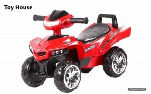 Toy House Racing Turbo Push ATV Ride on Car for Kids