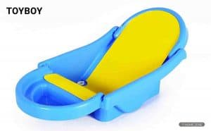 Toyboy Honey Bee Foldable Non-Toxic Plastic Baby Bath Tub (Blue)