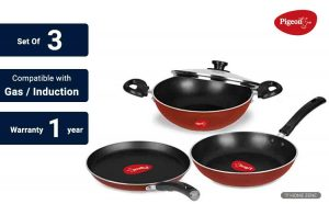Pigeon by Stovekraft Basics Induction Base Non-Stick Cookware Set